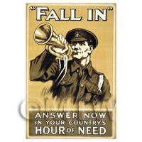Countrys Hour Of Need - Miniature WWI Poster
