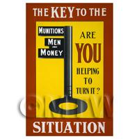 Munitions, Men And Money - Miniature WWI Poster
