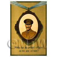 1/12th scale - Make Us Proud - Miniature WWI Poster