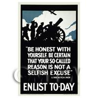 Be Honest With Yourself - Miniature WWI Poster