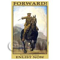 Dolls House Miniature - Forward! To Victory - Miniature WWI Poster