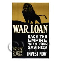 Back The Empire - War Loan - Miniature WWI Poster