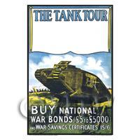 The Tank Tour Buy War Bonds - Miniature Dollshouse WWI Poster