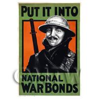 Put It Into War Bonds - Miniature WWI Poster