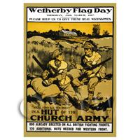 Dolls House Miniature - Wetherby Flag Day - Miniature WWI Poster