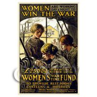 Women In The War - Miniature WWI Poster