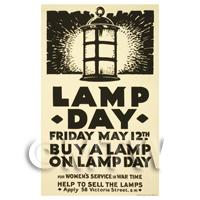 Womens Service Lamp Day - Miniature WWI Poster