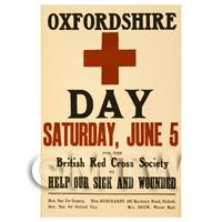 Oxfordshire Red Cross Day - Miniature WWI Poster