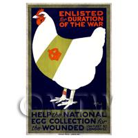 National Egg Collection - Miniature WWI Poster