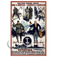 British Empire Union - Miniature WWI Poster