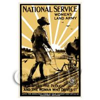 Womens Land Army - Miniature WWI Poster