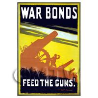 Feed The Guns! - Miniature WWI Poster
