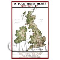 Is Your Home Here? - Miniature WWI Poster