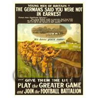 Play The Greater Game! - Miniature WWI Poster