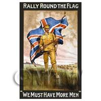 Rally Round The Flag - Miniature WWI Poster