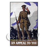 An Appeal To You - Miniature WWI Poster