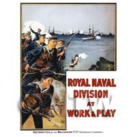 Royal Naval Division - Miniature WWI Poster