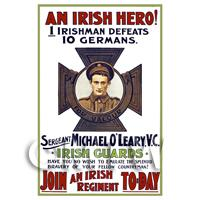 An Irish Hero! - Miniature WWI Poster