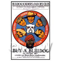 Buy A Bulldog For Our Brave Boys - Miniature Dollshouse WWI Poster