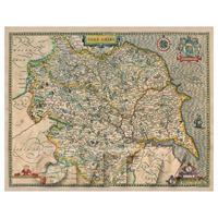Dolls House Miniature John Speed Yorkshire Map