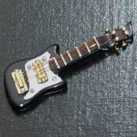 Dolls House Miniature Black Electric Guitar