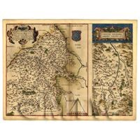 Dolls House Miniature Old Map Of The Biturigi Of France From The Late 1500s