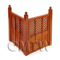 Dolls house Miniature 2 Mahogany Coloured Fence Panels