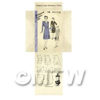Miniature DIY Hollywood Dress Pattern Packet (DPD041)