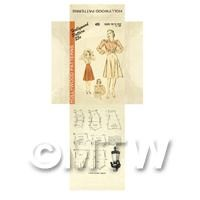 Miniature DIY Hollywood Dress Pattern Packet (DPD042)