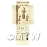 Miniature DIY Hollywood Dress Pattern Packet (DPD043)