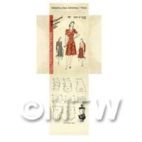 Miniature DIY Hollywood Dress Pattern Packet (DPD044)