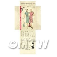 Miniature DIY Hollywood Dress Pattern Packet (DPD046)