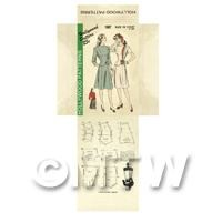 Miniature DIY Hollywood Dress Pattern Packet (DPD047)
