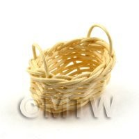 Dolls House Miniature Handmade Miniature Wicker Vegetable Basket