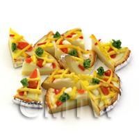 Dolls House Miniature Foil Based Pizza Slice