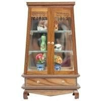 Dolls House Miniature Teak and Glass Display (A1B)