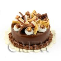 Dolls House Miniature Orange Chocolate Cake