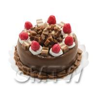 Dolls House Miniature Chocolate Strawberry Cake