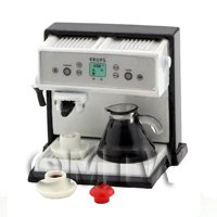 Dolls House Metal Coffee Machine With Jug And 2 Cups