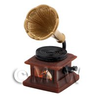Dolls House Miniature Detailed Resin Cast Old Style Gramophone