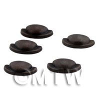 Dolls House Miniature Set of 5 Bronze Effect Metal Handles