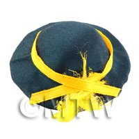 Dolls House Miniature Green And Yellow Hat