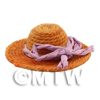 Dolls House Miniature Small Yellow String Hat