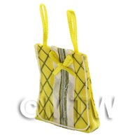 Dolls House Miniature Yellow Fabric Shopping Bag