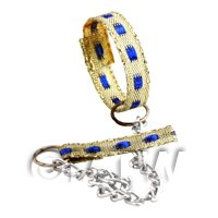 Dolls House Miniature Fancy Dog Lead and Collar