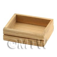 1/12th scale - Dolls House Miniature Wooden Solid Side Storage Crate