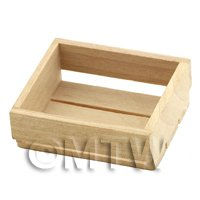 Dolls House Miniature Small Wood Crate With Large Slats