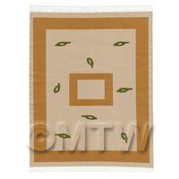 Dolls House Art Deco Large Rectangular Carpet / Rug (adlr03)
