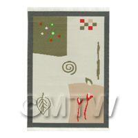Dolls House Art Deco Medium Rectangular Carpet / Rug (admr07)