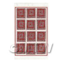 Dolls House Art Deco Medium  Rectangular Carpet / Rug (admr10)